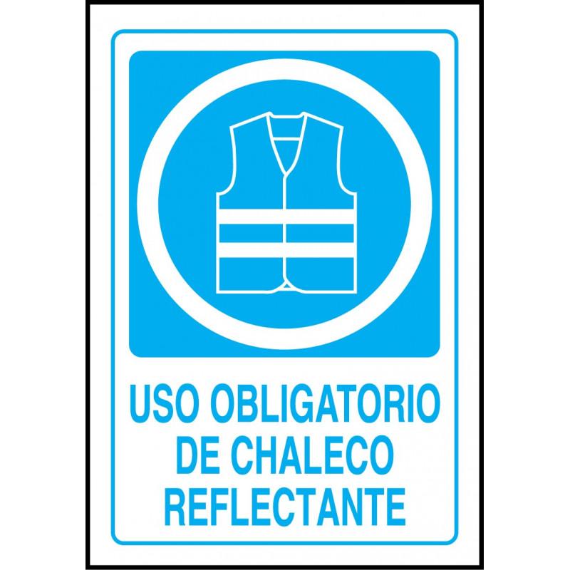 Cartel Uso Obligatorio de Chaleco Reflectante