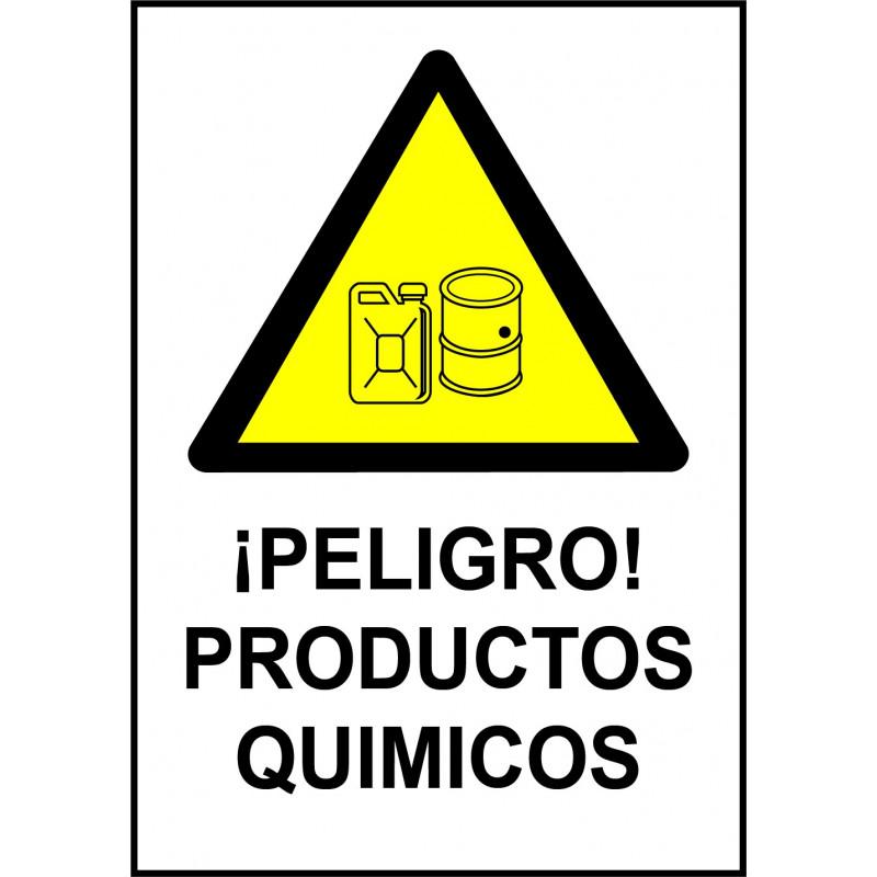 Cartel ¡Peligro! Productos Químicos