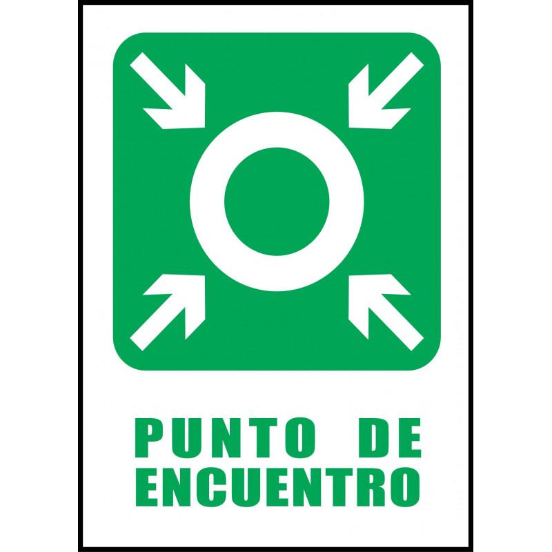 Cartel Punto de Encuentro - Verde