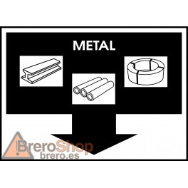 Cartel Residuos Metal