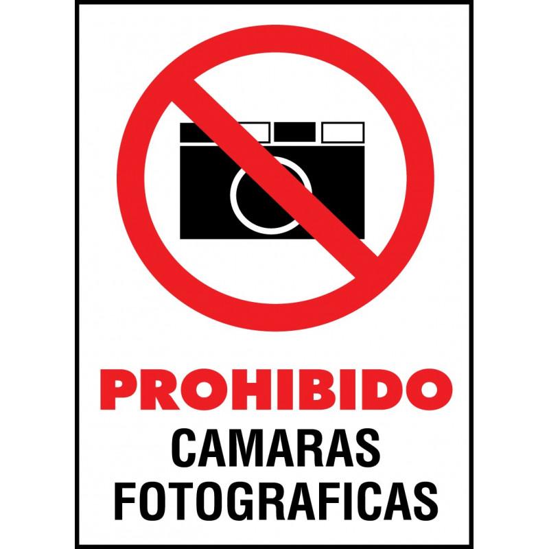 Cartel Prohibido Cámaras Fotográficas