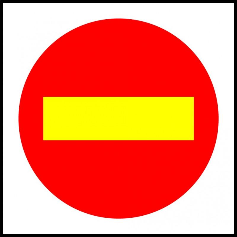 Cartel Polipropileno - Dirección Prohibida por Obras