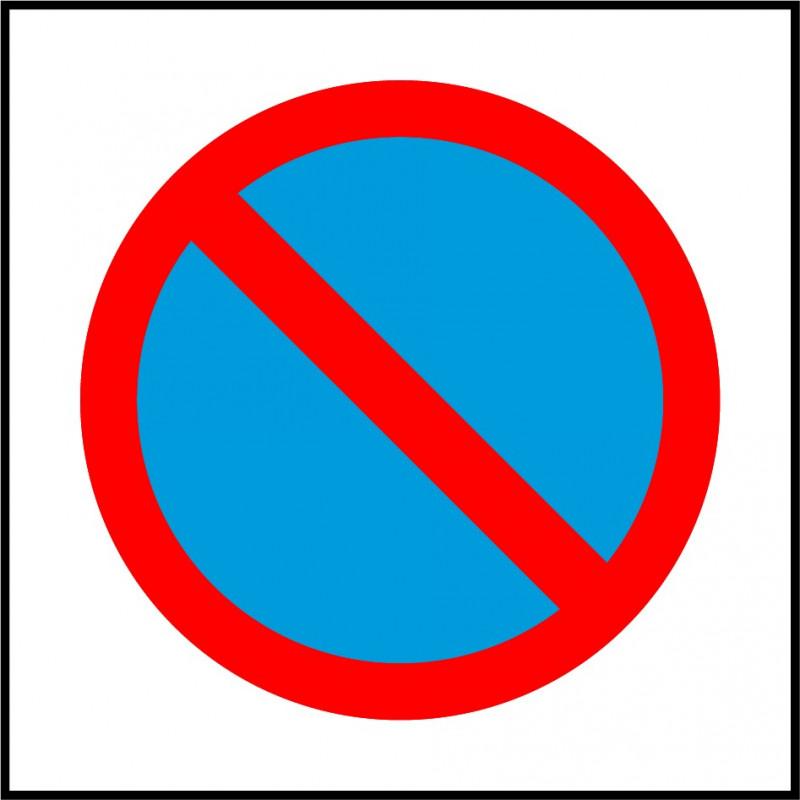Cartel Polipropileno - Prohibido aparcar