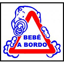 Adhesivo Bebé a Bordo - Blanco / Transparente