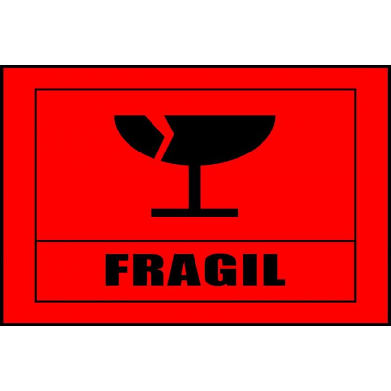 Pegatina Frágil Para Bultos - Mercancía