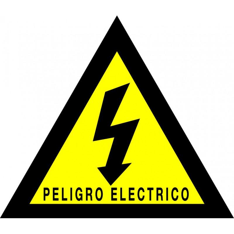 Pegatina Triángulo Peligro Eléctrico - Texto