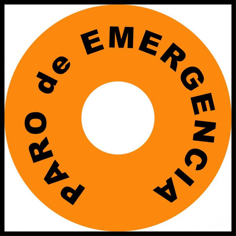 Pegatina Circular Paro de Emergencia