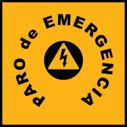 Pegatina Cuadrada Paro de Emergencia