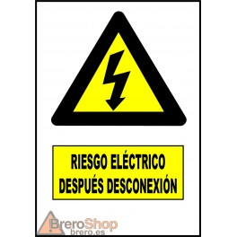 Pegatina Riesgo Eléctrico Después Desconexión