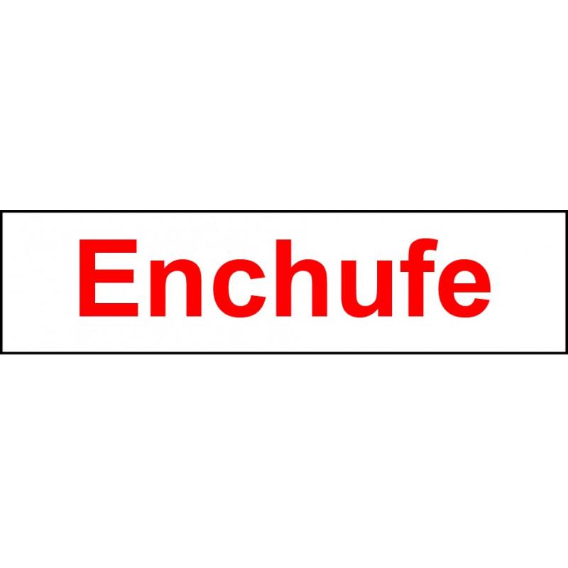 Pegatina Indicadora Panel Electricidad - Enchufe