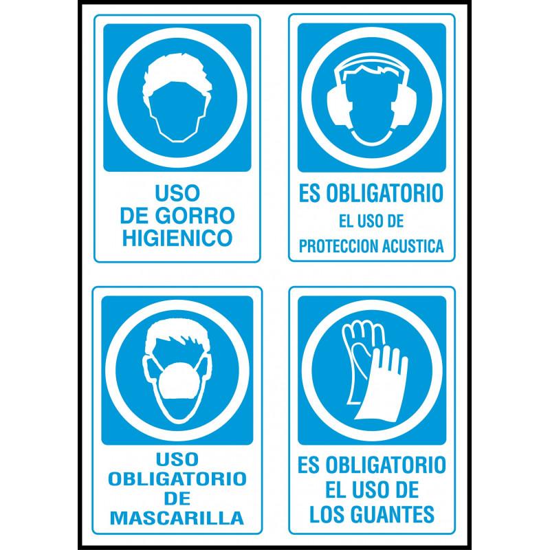 Adhesivo Uso Obligatorio de Normas de Seguridad - Gorro 5fb0b1d3e56