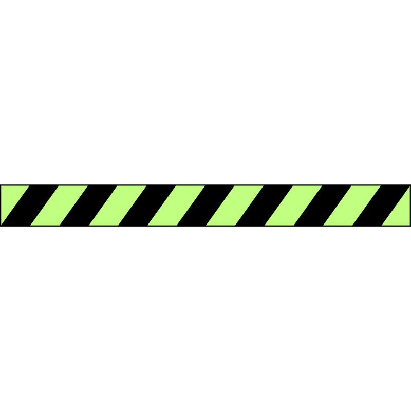 Banda Adhesiva Negro-Fotoluminiscente 1Metro X 10CM