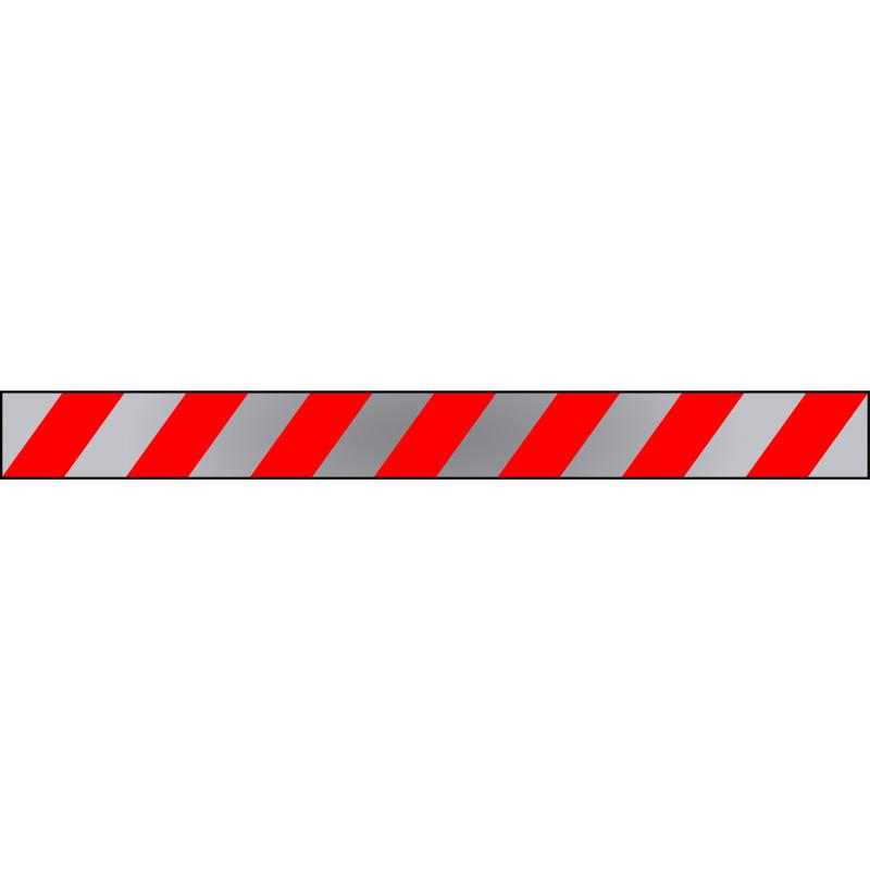 Banda Adhesiva Rojo-Blanco-Reflectante 1Metro X 10CM