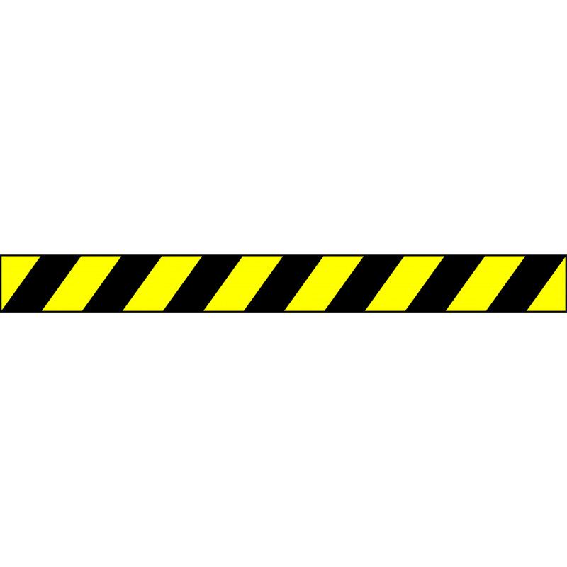 Banda Adhesiva Negro-Amarillo 1Metro X 10CM