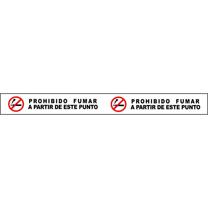 Banda Adhesiva Prohibido Fumar A Partir de Este Punto 1Metro X 10CM