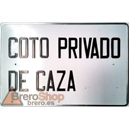 Placa Metal Coto Privado de Caza