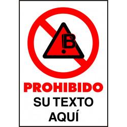 Cartel PVC Personalizado Prohibición
