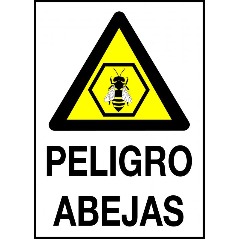 Cartel Peligro Abejas