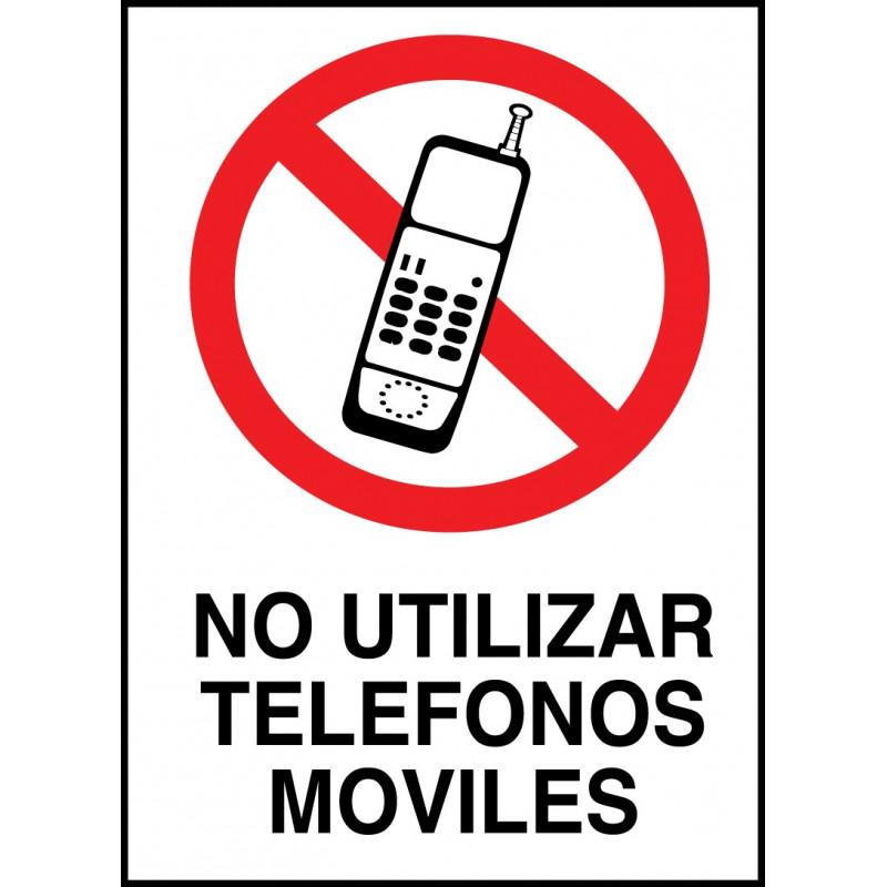 Cartel No Utilizar Teléfonos Móviles