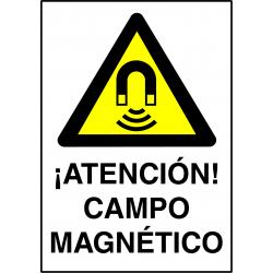 Cartel ¡Atención! Campo Magnético