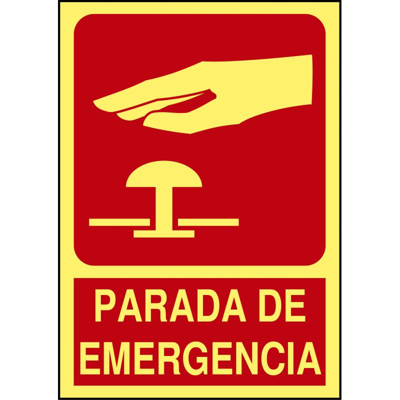 Cartel Fotoluminiscente Parada de Emergencia