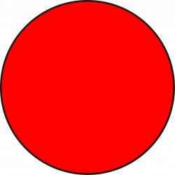 Círculo Adhesivo Rojo