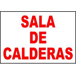 Cartel Sala de Calderas
