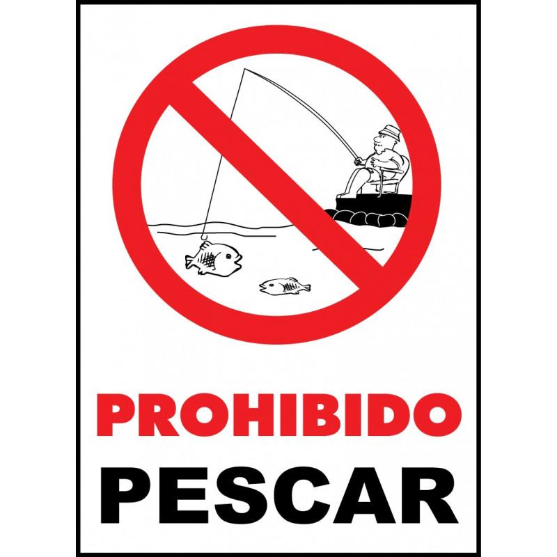 Cartel Prohibido Pescar