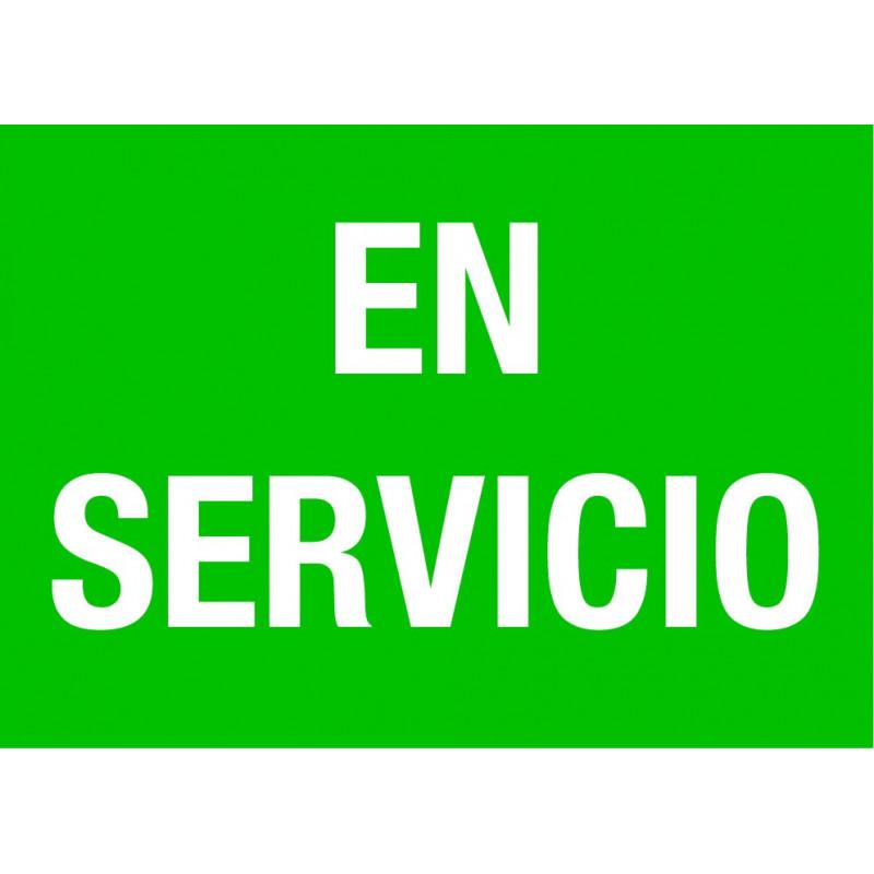 Cartel En Servicio - Verde