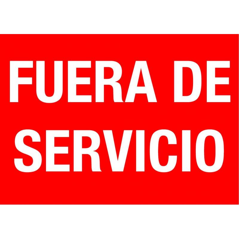Cartel Fuera de Servicio - Rojo