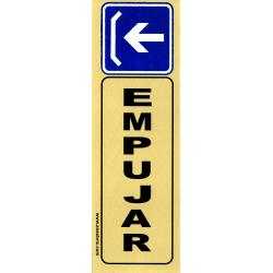 Placa Adhesiva Empujar - Vertical