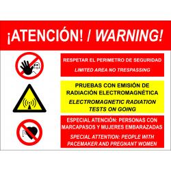 Señal Emisión Radiación Electromagnética - Bilingüe Español / Inglés