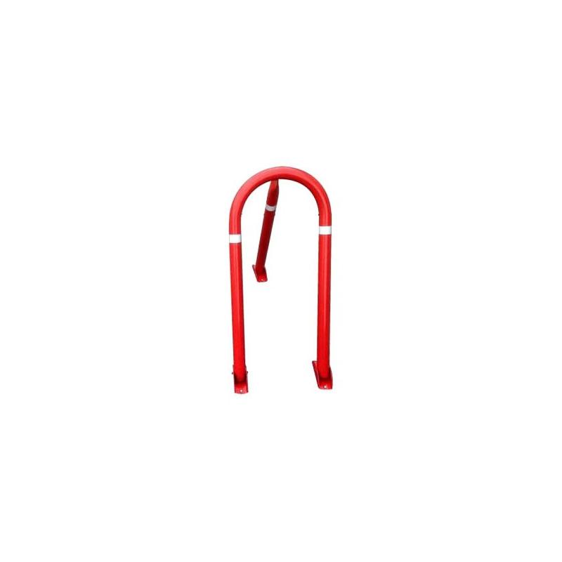 Cepo de acero lacado en rojo con candado