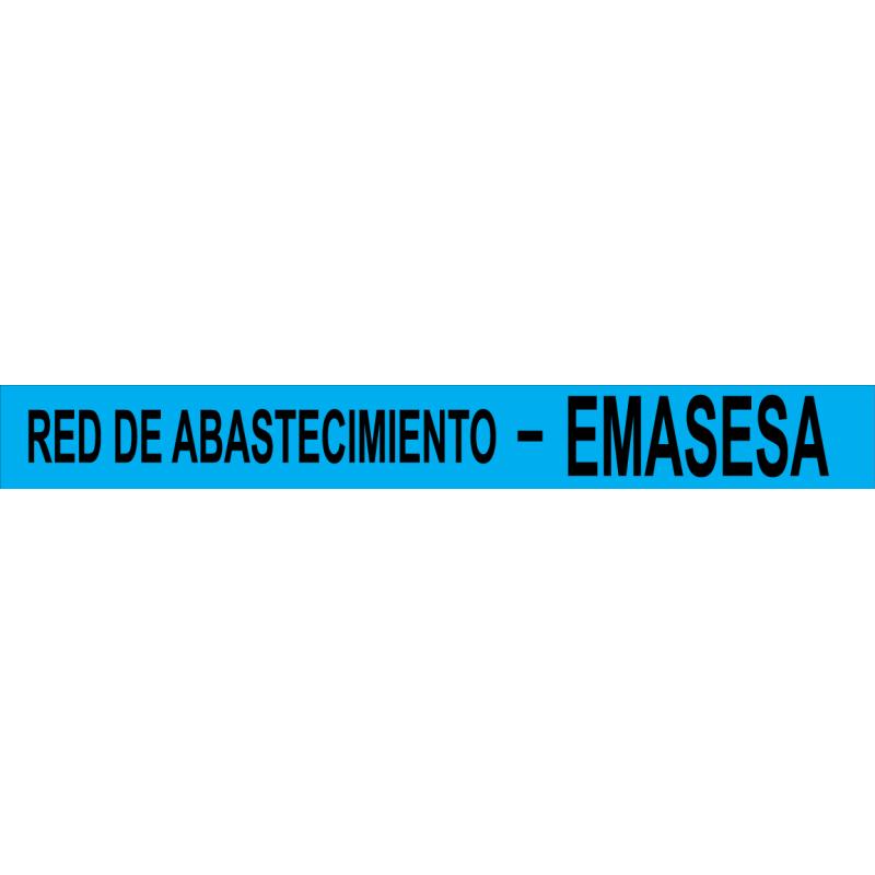 Rollo Cinta Emasesa - Red de Abastecimiento - Azul 250m.