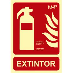 Señal Extintor UNE 23035 - Tamaño A4