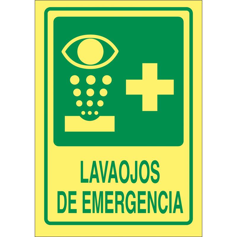 Cartel Fotoluminiscente Lavaojos de Emergencia