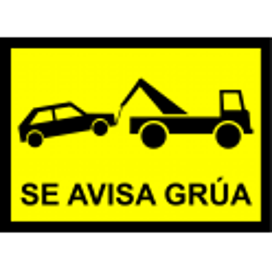 Señal Se Avisa Grúa - Alta Visibilidad