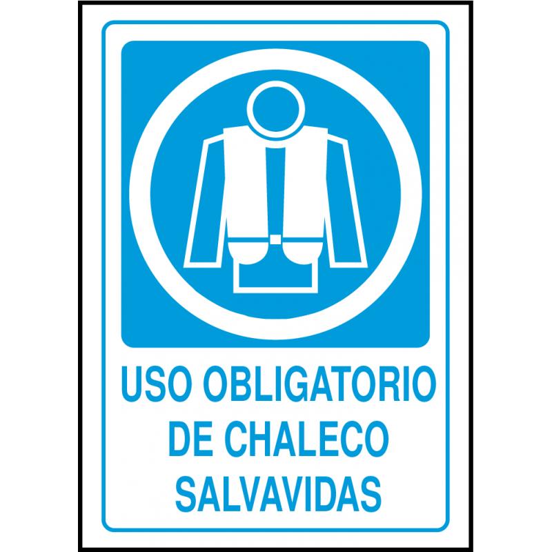 Cartel Uso Obligatorio de Chaleco Salvavidas
