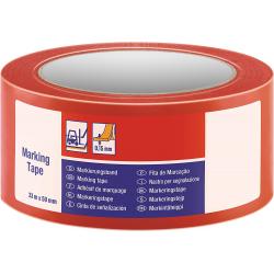 Cinta Adhesiva Señalización temporal - 33m x 50mm - Roja
