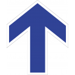 Adhesivo Suelo Flecha Troquelada - Azul