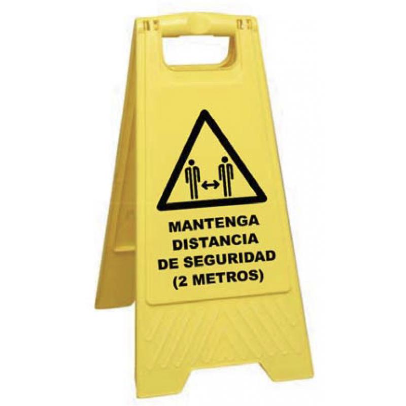 Caballete Mantenga distancia de seguridad (2 metros)
