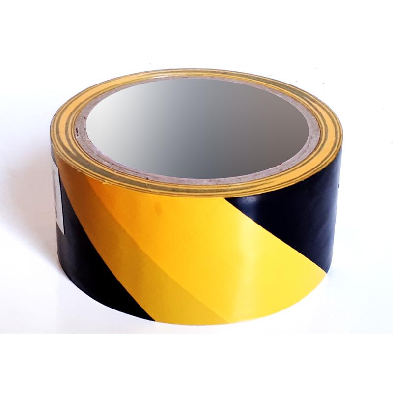 Cinta Adhesiva Señalización temporal económico - 48mm x 50m - Amarillo Negro