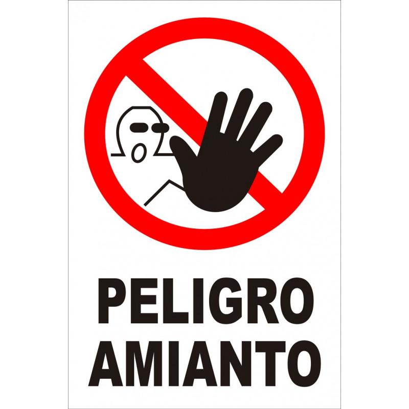 Cartel Peligro Amianto