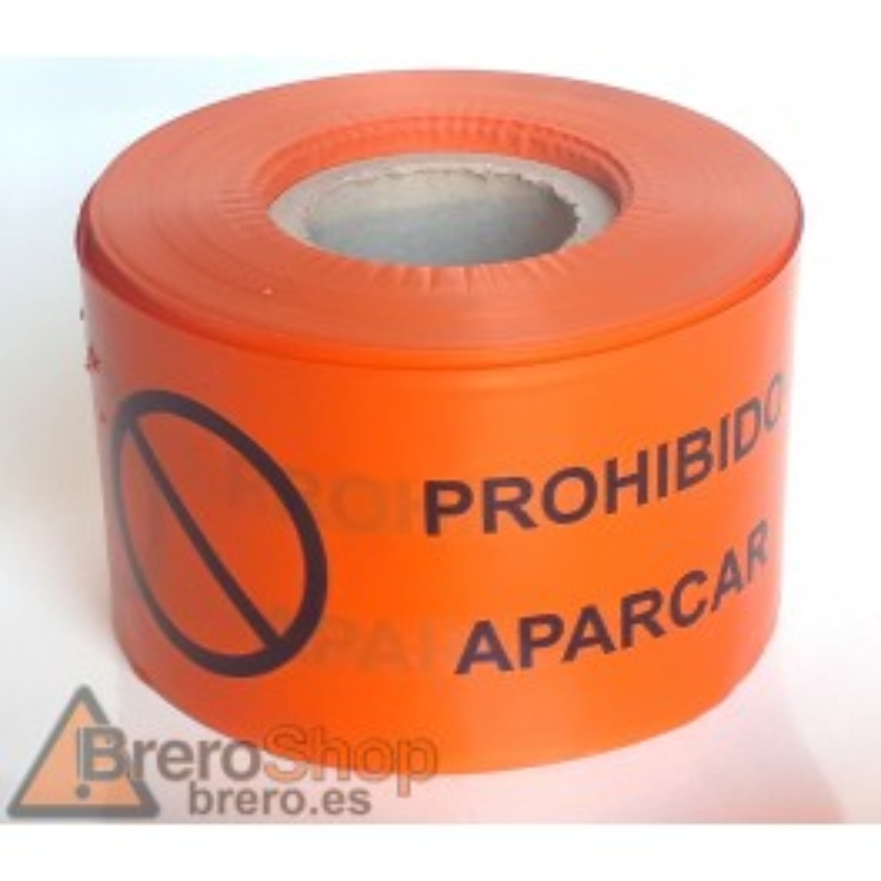 Rollo Cinta de Señalización Prohibido Aparcar 250m - 10cm