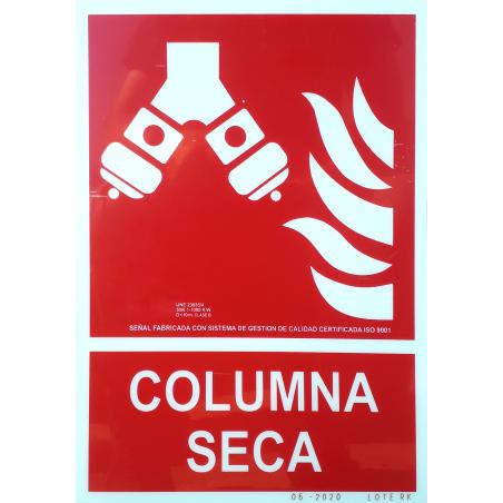 Señal Fotoluminiscente Columna Seca UNE 23035 - Tamaño A4