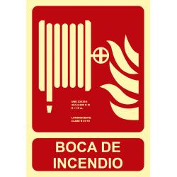 Señal Fotoluminiscente Boca de Incendios UNE 23035 - Tamaño A4