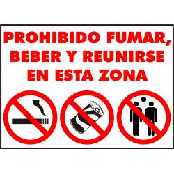 Cartel A Partir de Este Punto Se Prohibe: Fumar, Comer y Beber