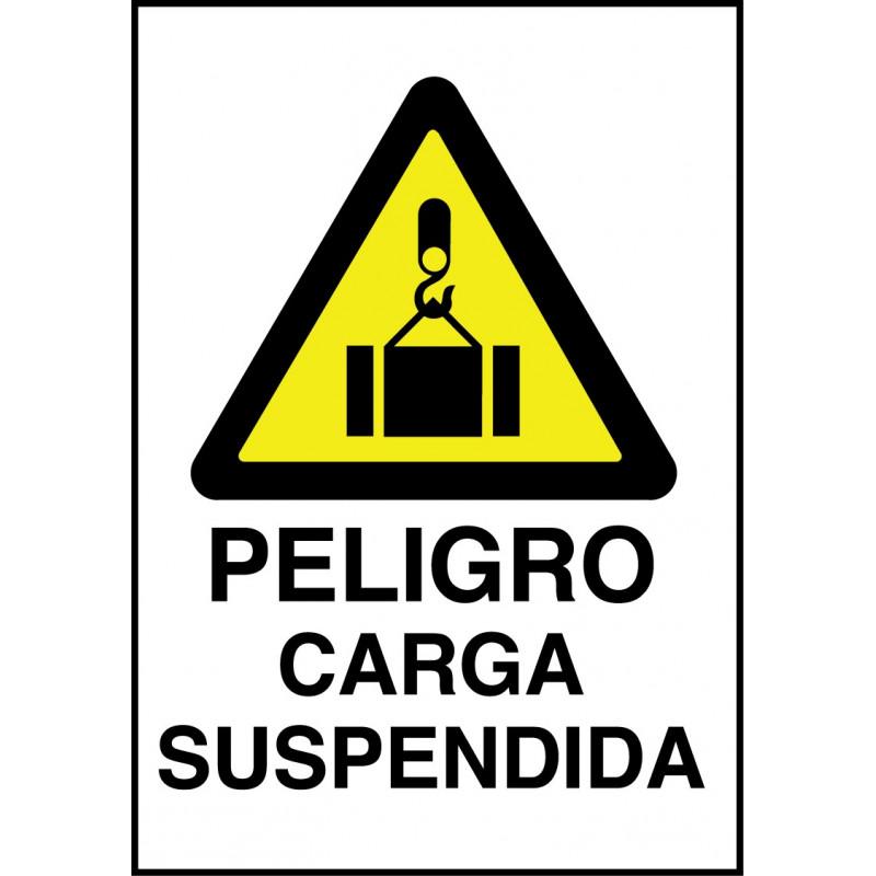 Cartel Peligro Carga Suspendida