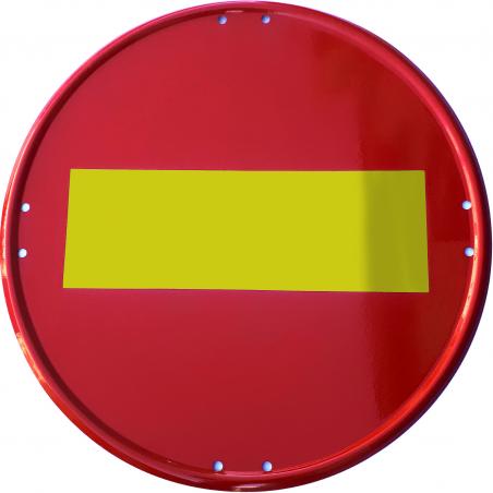 Señal Metálica Vial Dirección Prohibida - Obras