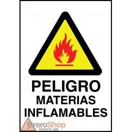 Cartel Peligro Materias Inflamables